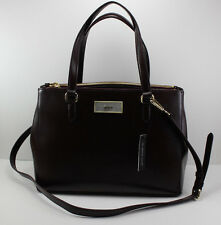 NEW AUTHENTIC DKNY BURGUNDY SAFFIANO LEATHER HANDBAG TOTE WOMEN'S SATCHEL
