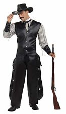 Western Cowboy Rogue Gambler Adult Mens Wild West Saloon Halloween Costume