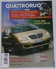 QUATTRORUOTE 7/2002 LANCIA THESIS 2.0 T – MINI COOPER S – MASERATI CAMBIOCORSA
