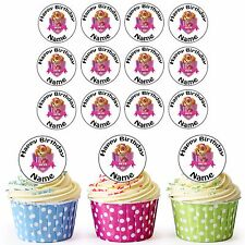 30 Personalised Pre-Cut Paw Patrol Sky Edible Birthday Cupcake Cake Toppers