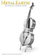 Fascinations Metal Earth Bass Fiddle Band Laser Cut 3D Model