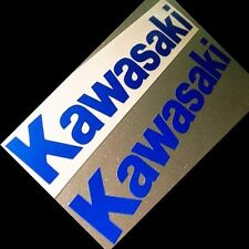 "Kawasaki Stickers/Decals (4 Stickers, 5"" Reflective Blue Material)"