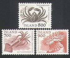Iceland 1985 Marine Animals/Crab/Squid/Nature/Wildlife 3v set (n34653)