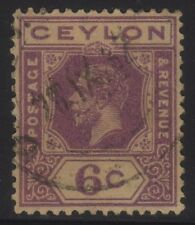 [JSC]1922 KING GEORGE V 6c CEYLON OLD STAMP