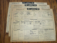 1939 1940 Lincoln  A E A Tune-Up System Vintage LI 17 18 19 - Three Charts