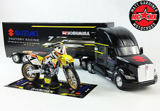 James Stewart Yoshimura GIFT SET Suzuki RMZ450 Motocross Bike / 1:32 Race Truck