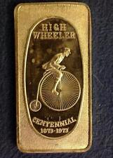 FINE SILVER BAR .999 1 OZ  HIGH WHEELER 1973 Great Lakes Mint
