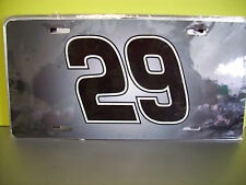 NASCAR KEVIN HARVICK #29 HEAVY PLASTIC LICENSE PLATE cover or WALL DISPLAY