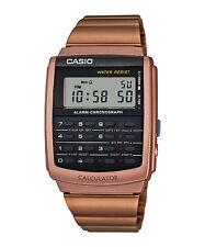 Vintage Casio CA-506C-5A CA-506 Unisex Data Bank Calculator Watch Rose Gold NEW
