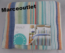 Martha Stewart Chatham Stripe 100% Cotton Reversible FULL / QUEEN Quilt