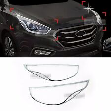 Chrome Head Lamp Garnish Molding C486 for HYUNDAI 2013 - 2015 Tucson ix / ix 35