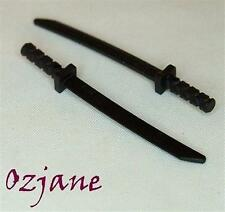 LEGO SPARES PARTS 30173b BLACK MINI FIGURE WEAPON SWORD SHAMSHIR 2 PIECES