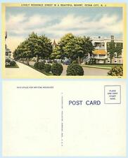 Residential Street Scene in Ocean City New Jersey c1940s Home Postcard