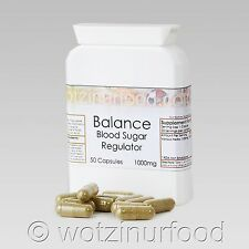 Blood Sugar Balance Herbs Diabetic Insulin Control Whole Food Organic 1000 mg