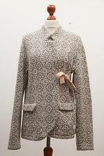 "Gorgeous ODD MOLLY ""233"" Grey & White Knitted Cardigan Jacket Size 4"