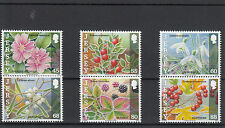 Jersey 2013 MNH Frosts & Nature 6v Set Flowers Mistletoe Bramble Snowdrop