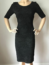 NEW ESCADA WOMENS BLACK KNIT DRESS SIZE 8 VISCOSE SPANDEX