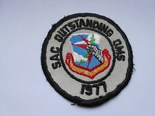 vintage  strategic air command  patch  1977 sac outstanding oms
