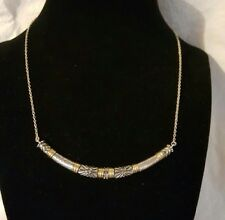 SILPADA $89 Canyon Dreams Necklace N3339 Brass Sterling Silver Swarovski crystal
