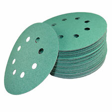 "50 5"" 8-Hole 80-Grit Dustless Hook & Loop Sanding Discs for Porter-Cable 382"