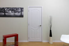 "18"" X 80"" Modern Interior Wood Door With Frame Included No Pre Hung White Ash"