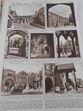 The Oldest school in England Scenes of King's school Canterbury 1946 Print