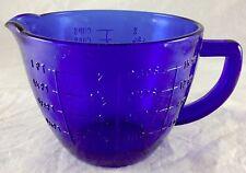 COBALT BLUE GLASS 2 CUP CAPACITY MEASURING CUP PITCHER PINTS CUPS OUNCES