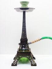 NEW GREEN PARIS EIFFEL TOWER MODERN Hookah Shisha Hooka BRASS Frame 1 Hose