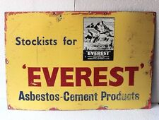 Old Vintage Advertising Everest Cement Enamel Signboard Collectible PJ-78