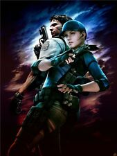 "Resident Evil - 1 2 3 4 5 6 Biohazard Zombie Shoot TV Game 32""x24"" Poster 008"