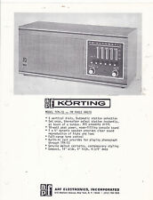VINTAGE AD SHEET #3023 - APF KORTING FM TABLE RADIO