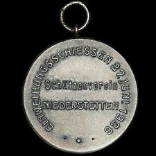 SCHÜTZEN: Medaille 1926. EINWEIHUNGSSCHIESSEN SCHÜTZENVEREIN NIEDERSTETTEN.