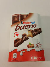 6pcs KINDER BUENO  - FERRERO QUALITY   - 4.55oz - 129g - MADE IN GERMANY