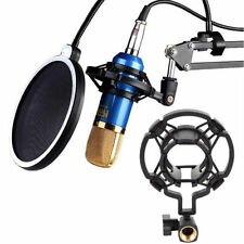 Mic Studio Microphone Shock Mount Universal Clip Holder Pop Sound Recording