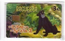 Carta telefonica Spagna  Disney Il Libro della Giungla 2 Bagueera in blister
