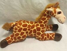 "Toys R Us Plush Giraffe ""Geoffrey"" Stuffed Toy 14"" Laying Down Giraffe 2010 EUC"