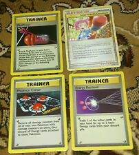 4 Trainer Pokemon Cards UNCOMMON [2]