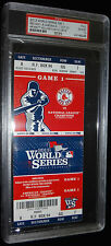 2013 BOSTON RED SOX  WORLD SERIES WS ORTIZ HR GAME 1 ONE FULL TICKET PSA MINT 10