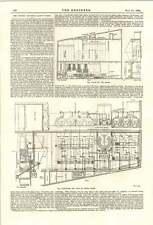 1894 The Bristol Electric Light Works Plan Elevations Boiler House