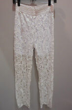 Pants M L White Crochet Lace Shorts and Long Pants in One Sexy Lotus NWT DC514