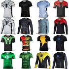 Mens Superhero The Hulk T-shirt Cycling Short Sleeve Jersey Tee Shirt Tops Shirt