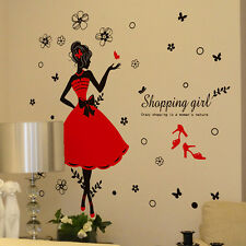 Girl wall stickers home Decorative Wall Decals for Living Room Bedroom bathroom