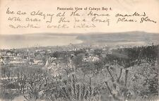 COLWYN BAY CONWY WALES UK PANORAMIC VIEW #4~BAUR'S SERIES POSTCARD *DAMAGED*