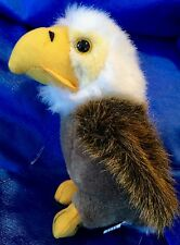 "Bald Eagle Plush Stuffed Animal Logo Brand USA Patriotic 7"" Tall NEW"