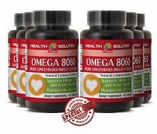 OMEGA 8060 Antioxidant Product of Norway - Pure Fish oil Eye Health 6 Bottles