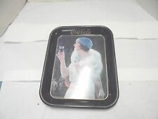 metal coke tray lady with white fox fur stole 197 reproduction coca cola soda