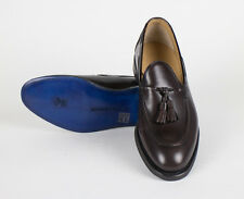 New SUTOR MANTELLASSI Brown Tassel Leather Shoes Size 8 US $950