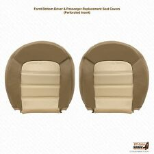 2004 Ford Explorer Eddie Bauer Driver & Passenger Bottom Leather Seat Cover Tan