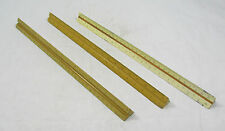 "Vtg Lot 3 Wood Post Dietzgen K&E 12"" Triangle Ruler Architectural Drafting Tool"