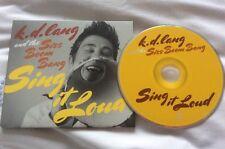 K D LANG GATEFOLD CD SISS BOMB BANG SING IT LOUD